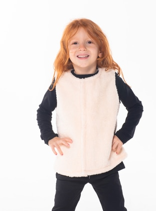 Crew neck -  - Unlined - Pink - Girls` Suit