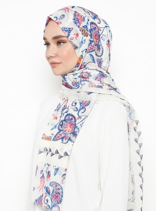 Cream - Printed - Shawl