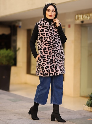 Powder - Leopard - Fully Lined -  - Vest