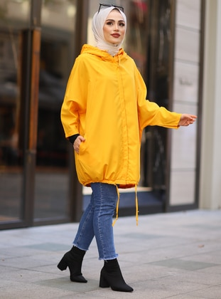 Mustard - Unlined - Button Collar - Topcoat