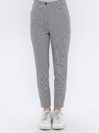 Black - Checkered - Pants
