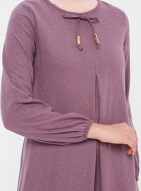 Lilac - Crew neck - Unlined -  - Dress