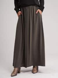 Khaki - Unlined - Skirt