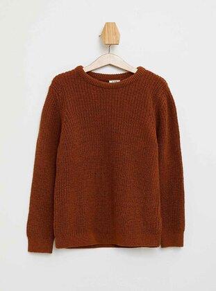 Beige - Boys` Pullover