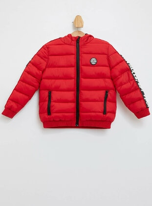 Red - Boys` Jacket