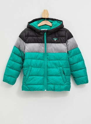 Green - Boys` Jacket - DeFacto