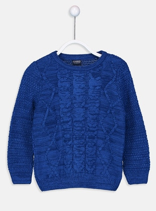Crew neck - Blue - Boys` Pullover