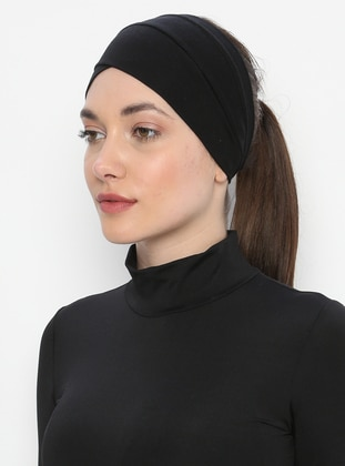 Black - Plain - Simple -  - Bonnet