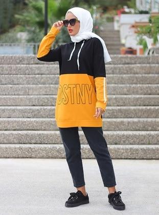 Mustard - Black -  - Tunic