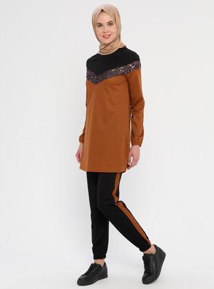 Cinnamon - Leopard - Unlined - Suit