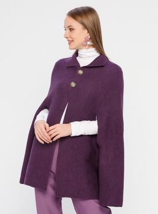 Purple - Acrylic - - Poncho - Meliana