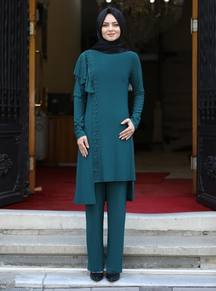 Emerald - Unlined - Viscose - Suit