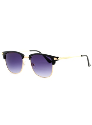 Gold - Gold - Purple - Sunglasses