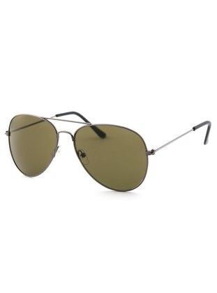 Silver tone - Khaki - Sunglasses