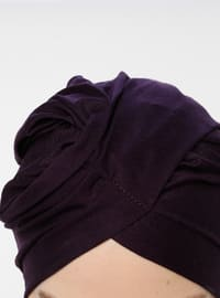 Purple - Plain - Pinless - Instant Scarf