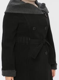 Black - Fully Lined - Plus Size Coat
