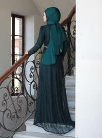 Emerald - Crew neck - Unlined - Viscose - Dress