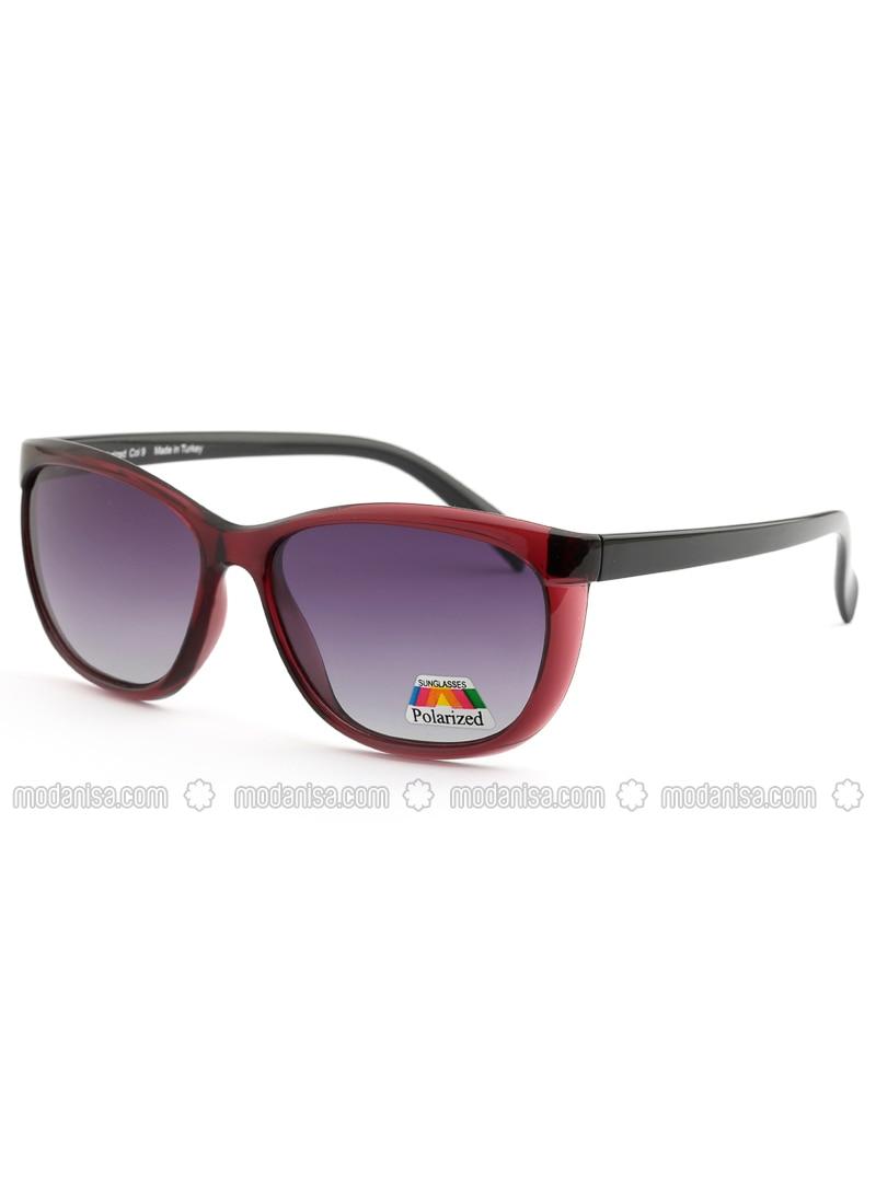 Maroon - Black - Sunglasses