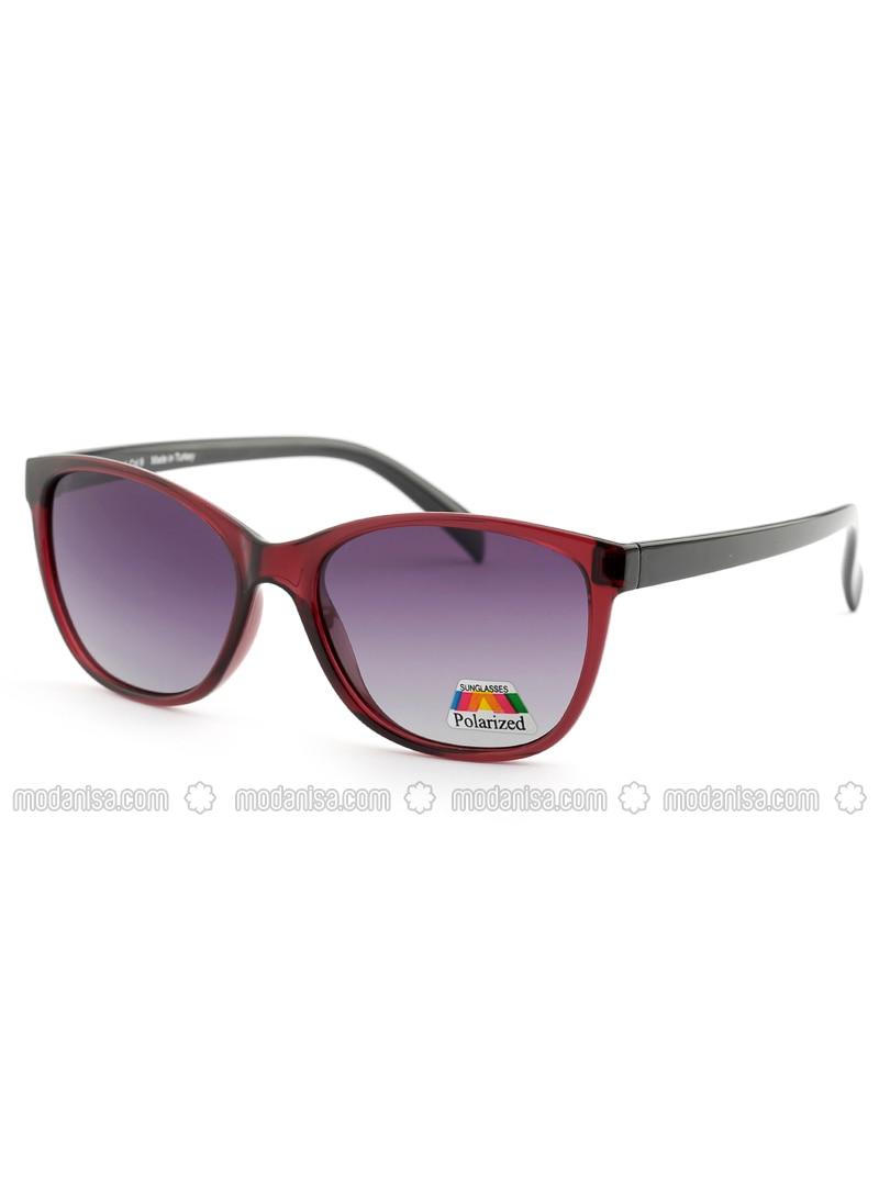 Maroon - Purple - Sunglasses