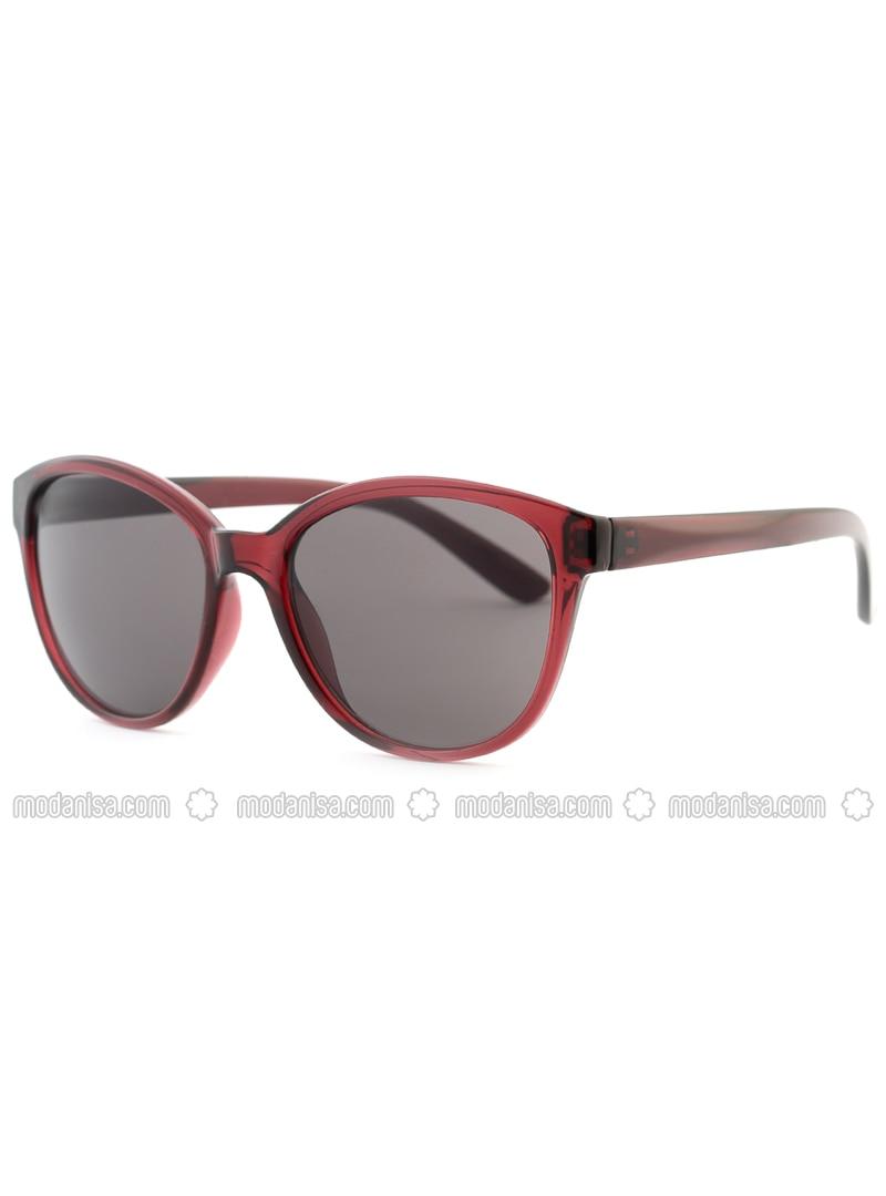 Maroon - Smoke - Sunglasses