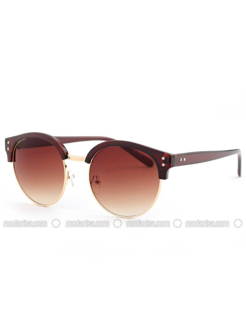 Gold - Gold - Brown - Sunglasses
