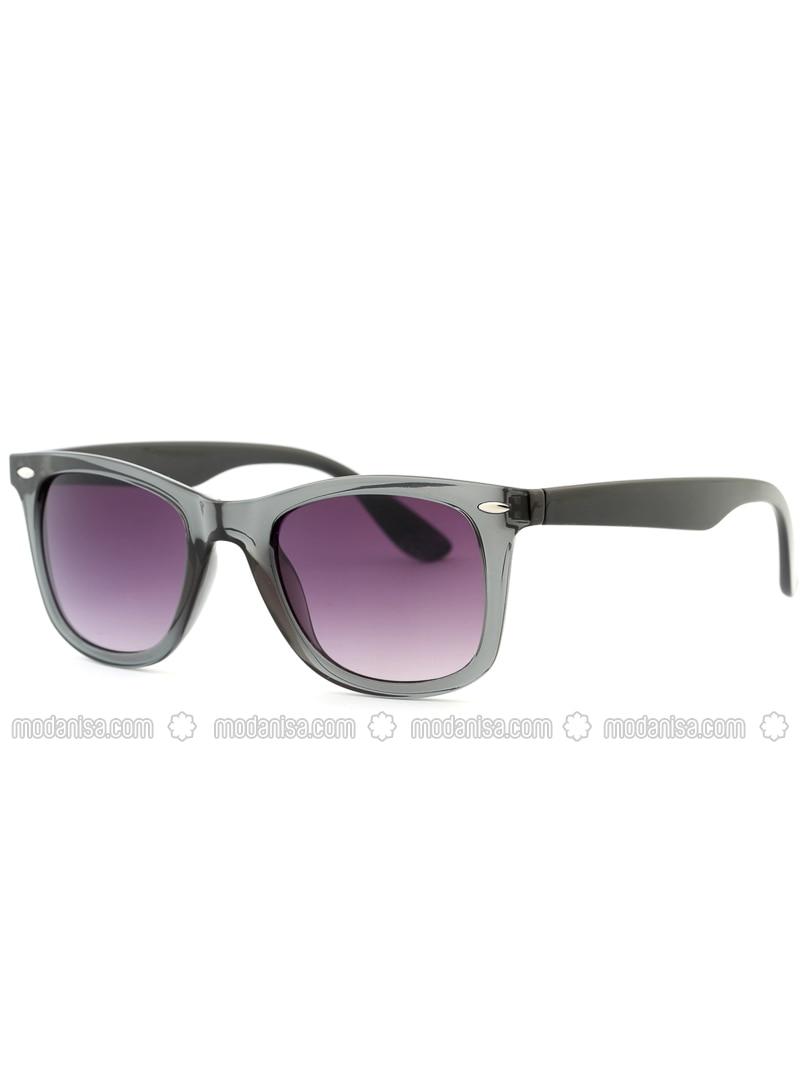 Gray - Purple - Sunglasses