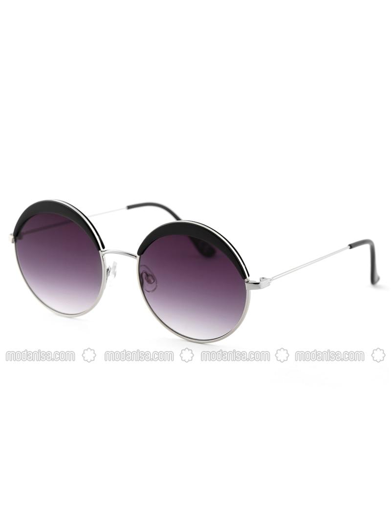Silver tone - Purple - Sunglasses