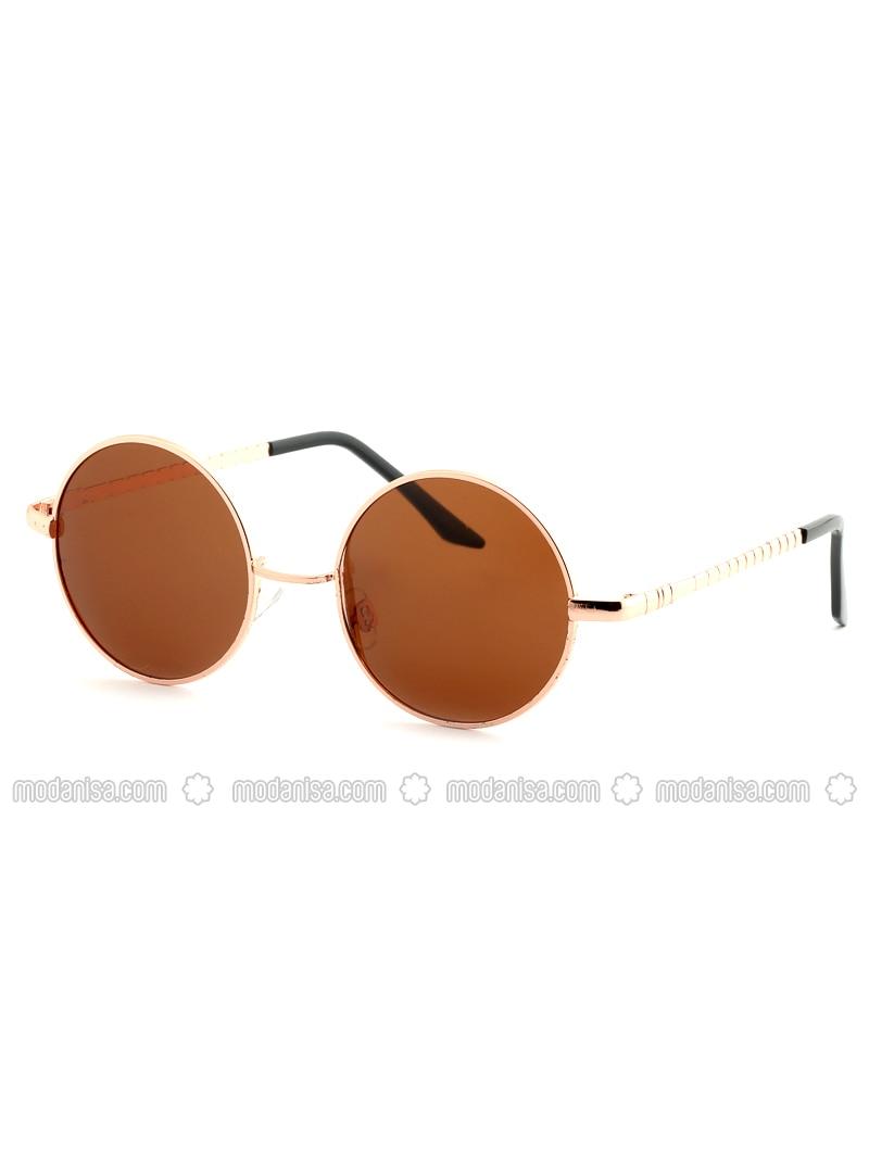 Brown - Rose - Sunglasses