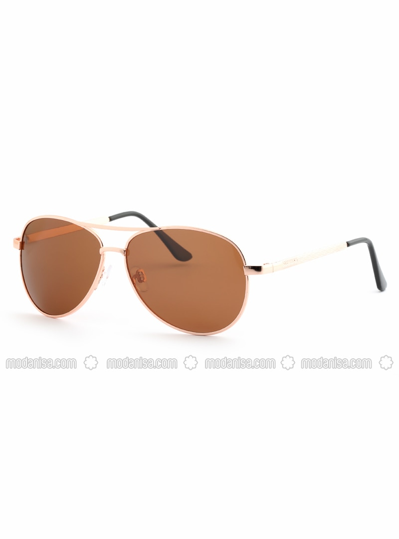 Brown - Rose - Sunglasses