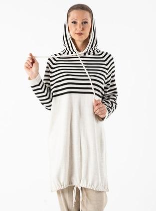 Beige - Stripe - Unlined - Acrylic -  - Suit