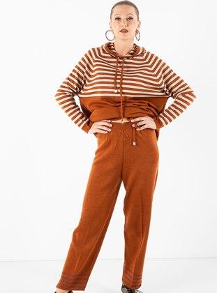 Terra Cotta - Stripe - Unlined - Acrylic -  - Suit
