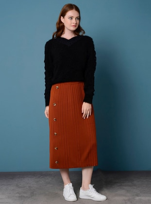 Terra Cotta - Unlined - Acrylic - Viscose - Skirt