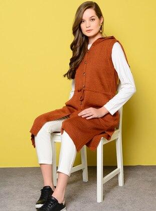 Terra Cotta - Unlined - Acrylic -  - Vest