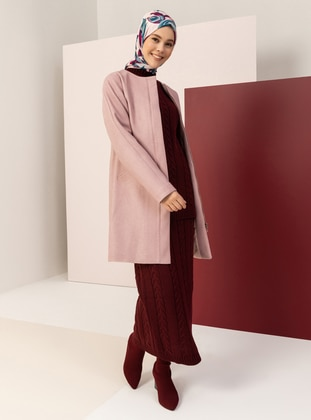 Powder - Fully Lined - Crew neck - Viscose - Coat