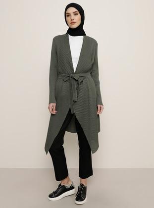 Khaki -  - Cardigan