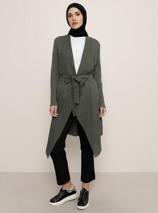 Khaki - Khaki -  - Cardigan - Tavin