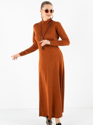 Terra Cotta - Polo neck - Unlined - Acrylic -  - Dress