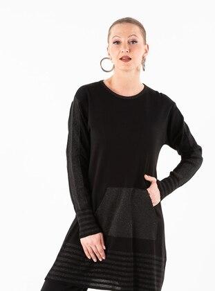 Black - Unlined - Acrylic -  - Suit