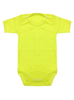 Crew neck -  - Unlined - Yellow - Baby Body