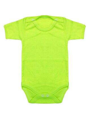Crew neck -  - Unlined - Green - Baby Body