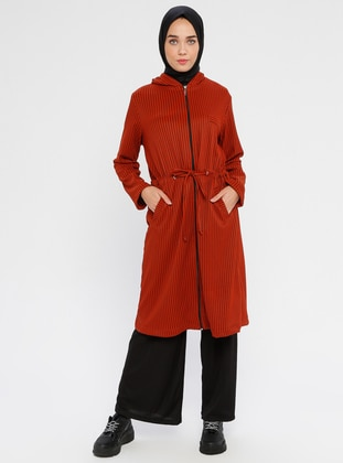 Terra Cotta - Unlined - Viscose - Trench Coat