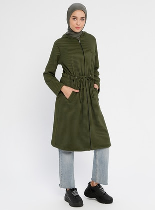 Green - Unlined - Viscose - Trench Coat