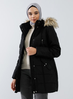 Black - Fully Lined - Polo neck - Puffer Jackets - Benin