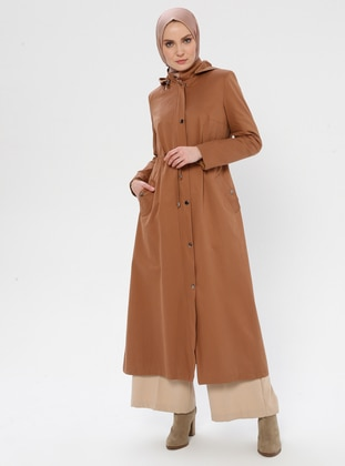 Cinnamon - Fully Lined - Point Collar -  - Trench Coat