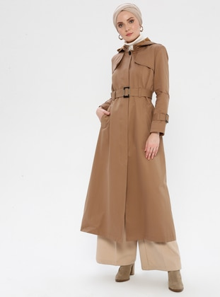 Mustard - Fully Lined - Point Collar -  - Trench Coat