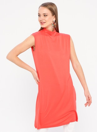 Coral - Polo neck - Viscose - Tunic