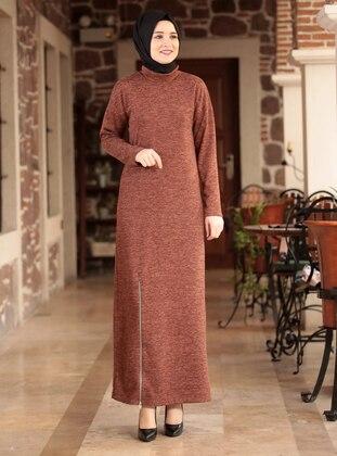 Terra Cotta - Crew neck - Unlined - Acrylic -  - Dress