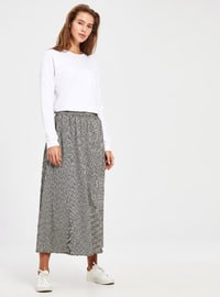 Printed - Black - Skirt