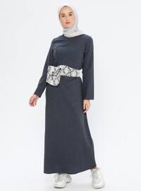 Indigo - Crew neck - Unlined -  - Dress
