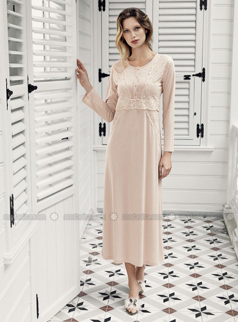 Beige - Nightdress